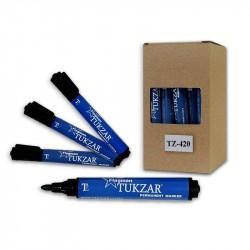 Маркер перманентный 2.0 мм синий, круглый наконечник, TZ 420