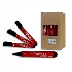 Маркер перманентный 2.0 мм красный, круглый наконечник, TZ 420