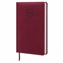 """Ежедневник датированный 2021 г. A5 168л кожзам """"Favorite"""", бордовый"""