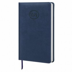 """Ежедневник датированный 2021 г. A5 168л кожзам """"Favorite"""", синий"""