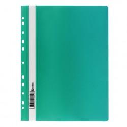 Скоросшиватель пластиковый А4, 140/180 мкм, зелёный с перфорацией