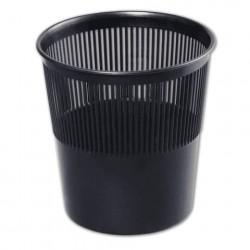Корзина для мусора  9л пластиковая круглая сетчатая, чёрная