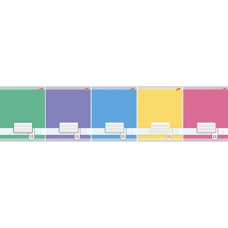 Тетрадь 12 листов линия ''Цветные фоны'', ассорти