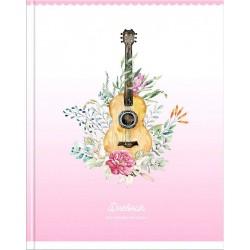 """Дневник для музыкальных школ """"Гитара. Цветы"""", ламинированный"""