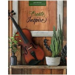 """Дневник для музыкальных школ """"Прекрасная скрипка"""", ламинированный"""