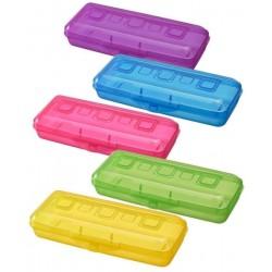 Пенал пластиковый, ассорти, ПН 16