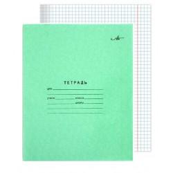 Тетрадь 12 листов клетка офсет, зелёная