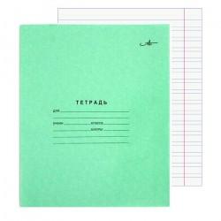 Тетрадь 12л узкая линия офсет, зелёная, Арханшельский ЦБК