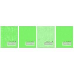 """Тетрадь 12 листов линия """"Текстура"""", зелёная"""
