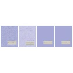 Тетрадь 18 листов клетка ''Текстура лён'', голубая