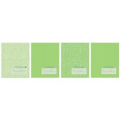 Тетрадь 24 листа клетка ''Текстура лен'', зелёная