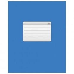 """Тетрадь 48 листов клетка скрепка, обложка картон """"Синяя"""""""