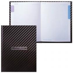 Блокнот А5 80л клетка, твёрдая обложка 5-цв. блок ''CarbonStyle'', HATBER