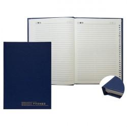 Книжка телефонная А5 80л линия, твёрдая обложка, бумвинил