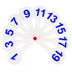 Веер-касса (цифры от 1 до 20)