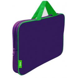 Папка-сумка 350*265*45 ПМД 2-42 фиолетовый/салатовый, ткань, Оникс