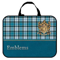 Папка-сумка 350*265*80 ПМД 4-20 Шотландка бирюзовая, ткань, Оникс