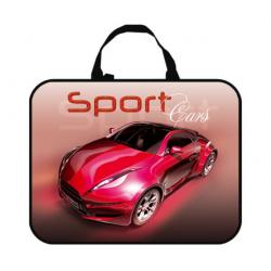 Папка-сумка 350*265*80 ПМД 4-20 Sport car красный, ткань, Оникс