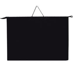 Папка А3 с ручкой чёрная пластиковая, ПР-3, Оникс