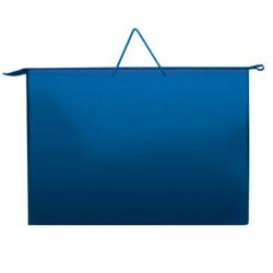 Папка А3 с ручкой синяя пластиковая, ПР-3, Оникс