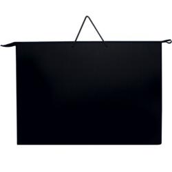 Папка А3 с ручкой чёрная пластиковая, ПР-2, Оникс