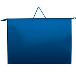 Папка А3 с ручкой синяя пластиковая, ПР-2, Оникс