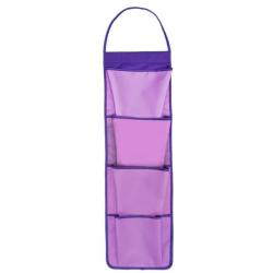 Органайзер подвесной 650х175 МВ 2-45 на 4 кармана Фиолетовый, ткань, Оникс