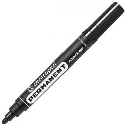 Маркер перманентный 2.5 мм чёрный, круглый наконечник 8566, CENTROPEN
