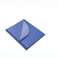 Клеёнка для труда 350*500 синяя, складная
