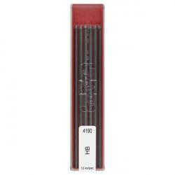 Грифели для цанговых карандашей 12 шт 2.0 мм HB