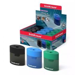 """Точилка пластиковая с  контейнером """"SMART&SHARP"""", ассорти, ERICH KRAUSE"""