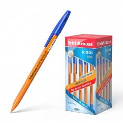 """Ручка шариковая 0.7 мм """"R-301 ORANGE STICK"""" синяя, корпус оранжевый, ERICH KRAUSE"""