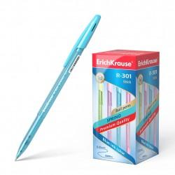 Ручка шариковая 0.7 мм ''R-301 SPRING STICK'' синяя, ассорти, ERICH KRAUSE