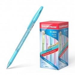 Ручка шариковая 0.7 мм ''R-301 SPRING GRIP'' синяя, с рез гриппом, ассорти, ERICH KRAUSE