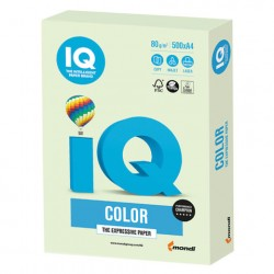 Бумага А4 IQ ''COLOR PALE'' 80 г/м2 500 л светло-зелёная, GN27
