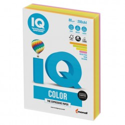 Бумага IQ ''COLOR NEON'' 80 г/м2 200 л (4цв*50л), RB04