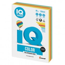 Бумага IQ ''COLOR INTENSIVE'' 80 г/м2 250 л (5цв*50л), RB02