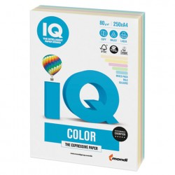 Бумага IQ ''COLOR PALE'' 80 г/м2 250 л (5цв*50л), RB01