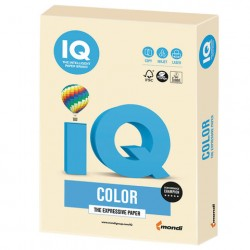 Бумага IQ ''COLOR PALE'' 160 г/м2 250 л, пастель кремовая, CR20