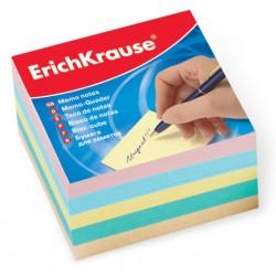 Блок для записей 9*9*5 см, цветной, ERICH KRAUSE