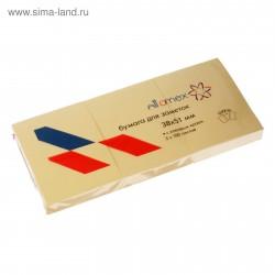 Блок с клеевым краем 38*51 мм, 300 л, жёлтый, 3 шт