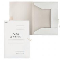 Папка для бумаг с завязками картонная, плотность 310 г/м2