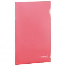 Папка-уголок красная 0.15 мм