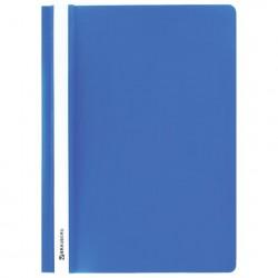Скоросшиватель пластиковый А4, 130/180 мкм, голубой