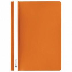 Скоросшиватель пластиковый А4, 130/180 мкм, оранжевый