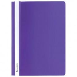 Скоросшиватель пластиковый А4, 130/180 мкм, фиолетовый