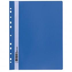 Скоросшиватель пластиковый А4, 140/180 мкм, синий с перфорацией