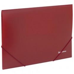 Папка на резинках пластиковая красная 0,5 мм