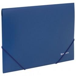 Папка на резинках пластиковая синяя 0,5 мм
