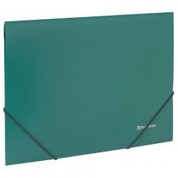 Папка на резинках пластиковая зелёная 0,5 мм
